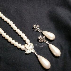 Jewelry - Heirloom Faux Pearls with Earrings